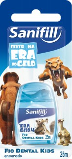 Fio Dental Sanifill Kids Era do Gelo 25m