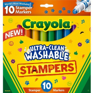 Canetinha Crayola Stampers markers com 10 cores