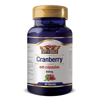 Cranberry 550mg com 60 cápsulas Vit gold