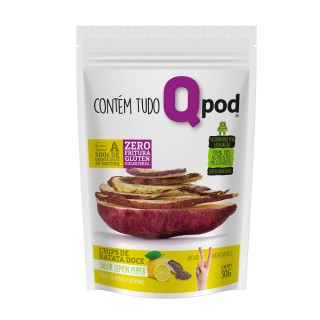 Chips QPod Batata Doce Lemon Pepper 30g
