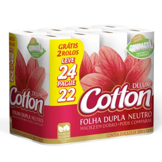 Papel higiênico Cotton Deluxe Leve 24 pague 22