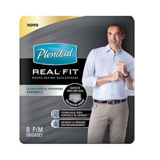 Roupa Íntima Plenitud Active Cotton Flex Fit Masculino com 8 unidades
