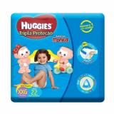 FRALDA HUGGIES TRIPLA PROTEÇÃO XXG 22 UNIDADES