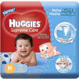 FRALDAS DESCARTÁVEIS INFANTIS HUGGIES SEMPRE CARE TURMA DA MÔNICA MASCULINA TAMANHO MÉDIO 24 UNIDADES