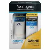 Protetor Solar Neutrogena Sun Fresh F70 200ml + Protetor Sun Fresh F60 50ml