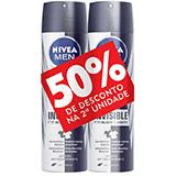 KIT 2 DESODORANTES AEROSOL NIVEA FOR MEN BLACK AND WHITE CLEAR 150ML