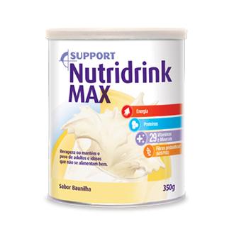 NUTRIDRINK MAX EM PÓ SABOR BAUNILHA 350G