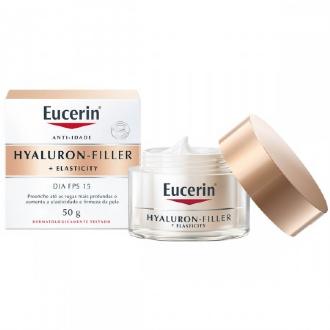CREME FACIAL EUCERIN HYALURON-FILLER + ELASTICITY DIA FPS15 50G