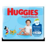 FRALDA DESCARTÁVEL HUGGIES TRIPLA PROTEÇÃO TAMANHO G 28 UNIDADES