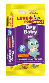 TOALHAS UMEDECIDAS DRY BABY PLUS COM 100 LEVE MAIS POR MENOS