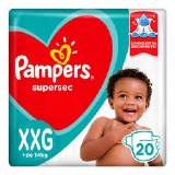 PAMPERS SUPERSEC TAMANHO XXG 20 UNIDADES