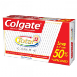 KIT CREME DENTAL COLGATE TOTAL 12 CLEAN MINT 2 UNIDADES DE 90G CADA