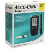 ACCU-CHEK ACTIVE KIT MONITOR DE GLICEMIA APARELHO + 10 TIRAS