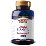 OMEGA 3 FISH OIL 1200MG COM VITAMINAS D e E VIT GOLD 100 CÁPSULAS