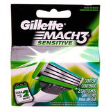 CARGA GILLETTE MACH3 SENSITIVE 2 UNIDADES