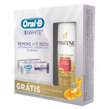 KIT CREME DENTAL ORAL B 3D WHITE + CONDICIONADOR PANTENE 1 UNIDADE