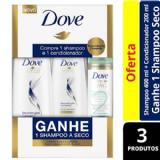 Kit Dove Shampoo 400ml+Condicionador 200ml Reconstrução Completa Ganhe Shampo