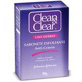 CLEAN & CLEAR SABONETE ESFOLIANTE ANTICRAVOS 80G