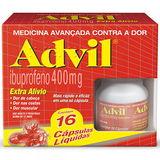 ADVIL EXTRA ALÍVIO 400MG 16 CÁPSULAS GELATINOSAS