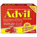 ADVIL EXTRA ALÍVIO 400MG COM 20 CÁPSULAS LÍQUIDAS