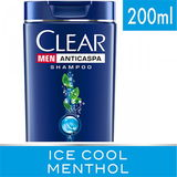 SHAMPOO ANTICASPA CLEAR MEN ICE COOL MENTHOL 200ML
