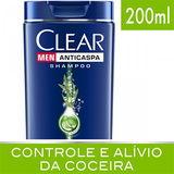 SHAMPOO CLEAR MEN ANTICASPA CONTROLE DA COCEIRA 200ML