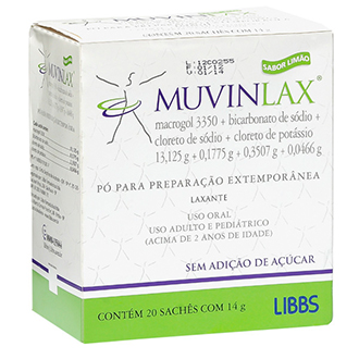 MUVINLAX 20 SACHÊS COM 14G