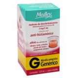 MALEATO DE DEXCLORFENIRAMINA 0,4 MG MEDLEY 120ML