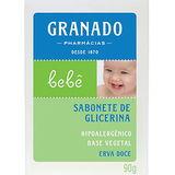 SABONETE INFANTIL GRANADO GLICERINA BEBÊ ERVA DOCE
