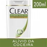 SHAMPOO ANTICASPA CLEAR WOMAN CONTROLE E ALÍVIO DA COCEIRA 200ML