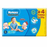 FRALDAS DESCARTÁVEIS INFANTIS HUGGIES TURMA DA MÔNICA TRIPLA PROTEÇÃO MEGA TAMANHO GRANDE 9 A 12,5 KG 48 + 4 UNIDADES