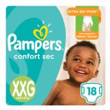 FRALDA PAMPERS CONFORT SEC XXG 18 UNIDADES