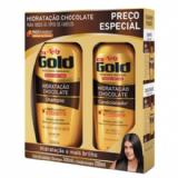 KIT SHAMPOO + CONDICIONADOR NIELY GOLD HIDRATAÇÃO DE CHOCOLATE