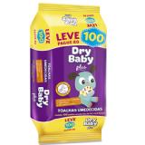 TOALHAS UMEDECIDAS DRY BABY PLUS LEVE 100 PAGUE 80