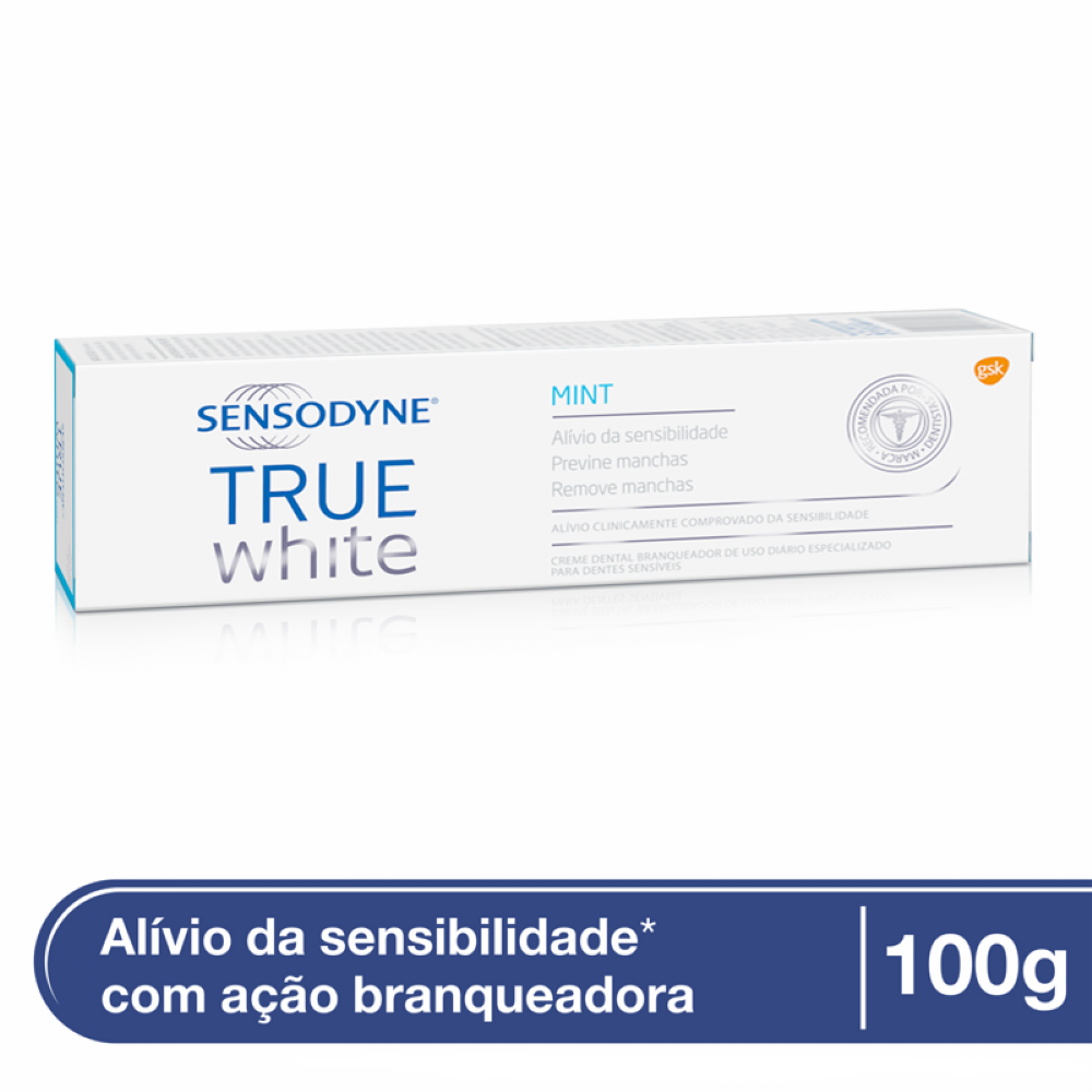 Creme Dental Sensodyne Branqueador True White 100g Drogao Super