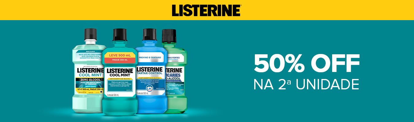 LISTERINE - 50% na 2º unidade