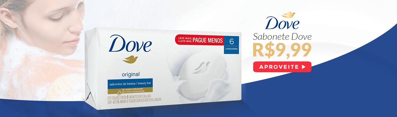 Sabonete Dove 6 unidade em Promoção é no Drogão Su