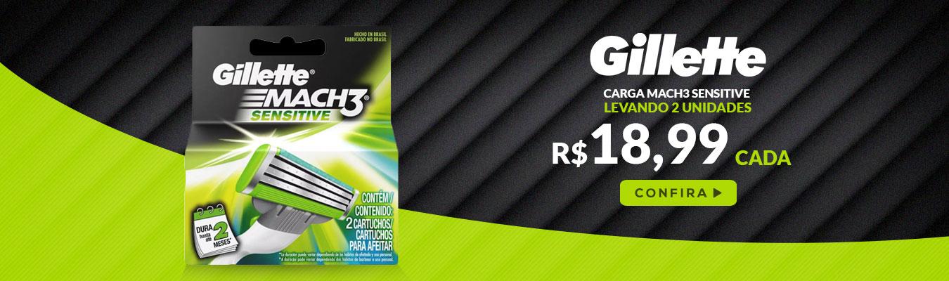 Gillette Mach3 2 Lâminas em promoção é no Drogão S