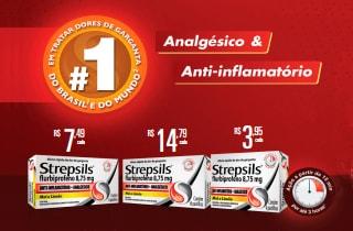 Pastilha para Garganta Strepsils em promoção Sem J