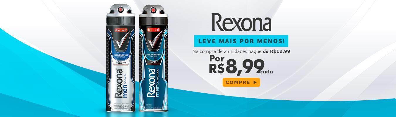 Desodorante Aerosol Rexona Leve 2 Pague R$8,99 cad