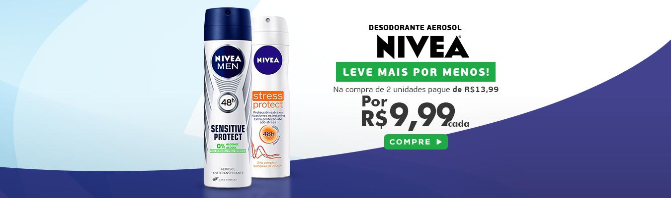 Desodorante Aerosol Nivea Leve 2 Pague R$9,99 cada