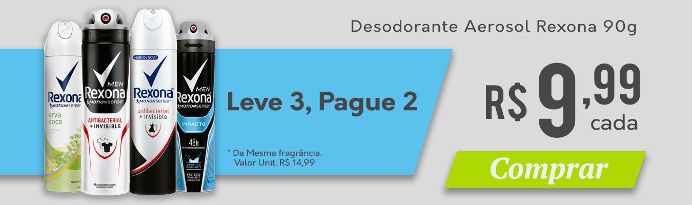 FULL DESODORANTE REXONA LEVE 3 POR 9,99 CADA