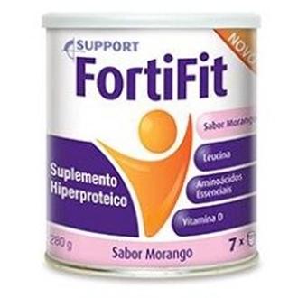 FORTIFIT EM PÓ SABOR MORANGO 280G