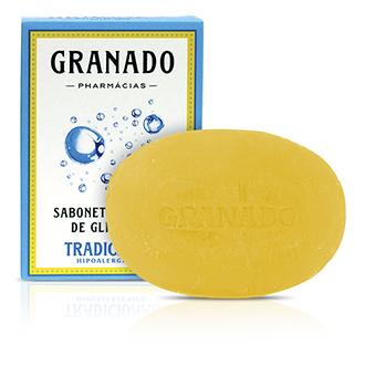 SABONETE BARRA GRANADO GLICERINADO TRADICIONAL 90G