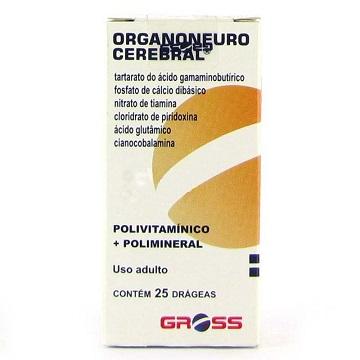 ORGANONEURO CEREBRAL 25 DRÁGEAS