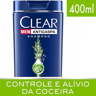 SHAMPOO CLEAN MEN ANTICASPA CONTROLE E ALÍVIO DA COCEIRA 400ML