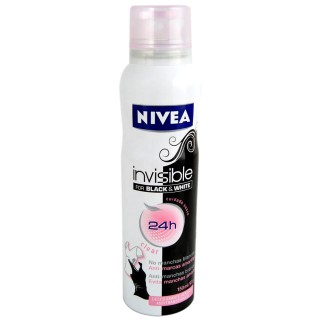 Desodorante Nivea aerosol invisible black & white clear 91g