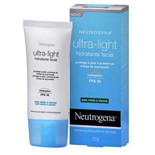 Creme Neutrogena Ultra Light FPS-30 pele mista a oleosa 55g