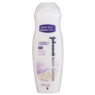 Hidratante Johnson & Johnson Soft Lavanda e Camomila Leve 400 Pague 320ml