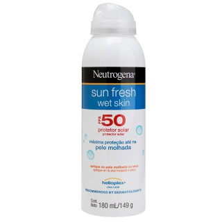 protetor solar wet skin neutrogena sun fresh fps50 180ml